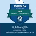 Asamblea General Ordinaria y Extraordinaria CAMTIC 2020