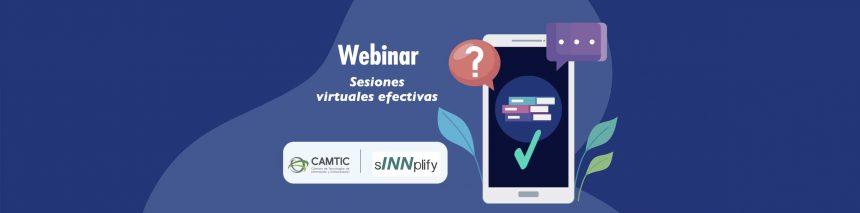 Webinar Sesiones virtuales efectivas