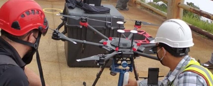 UNA, pionera en uso de drones para recolectar muestras volcánicas