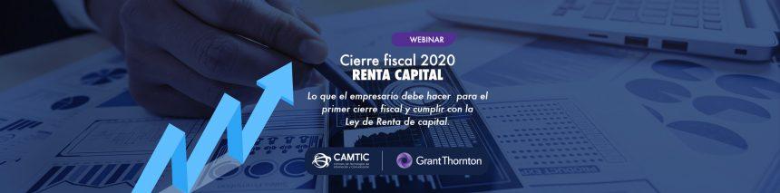 Cierre fiscal 2020 RENTA CAPITAL